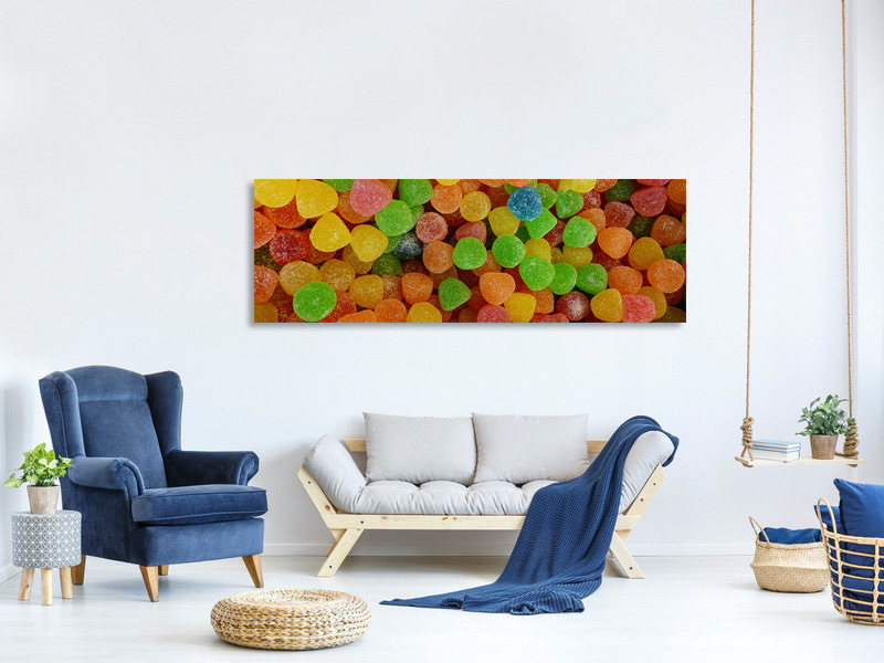 Panoramic Canvas Print Colorful fruit gums