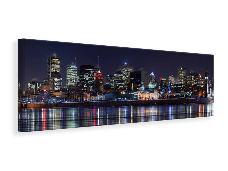 Panoramic Canvas Print Montreal Night