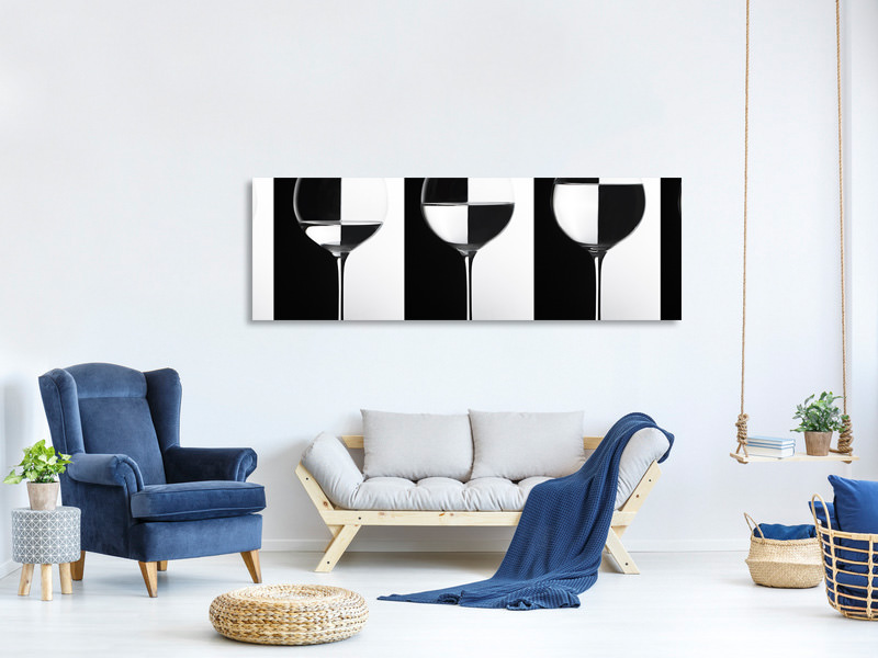 Tableau sur Toile Panoramique Black And White IV