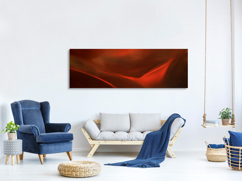 Tableau sur Toile Panoramique The Red Valley