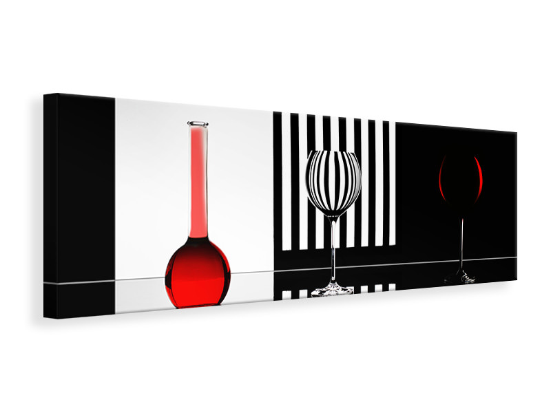 Panoramic Canvas Print Just Red