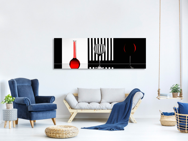Tableau sur Toile Panoramique Just Red