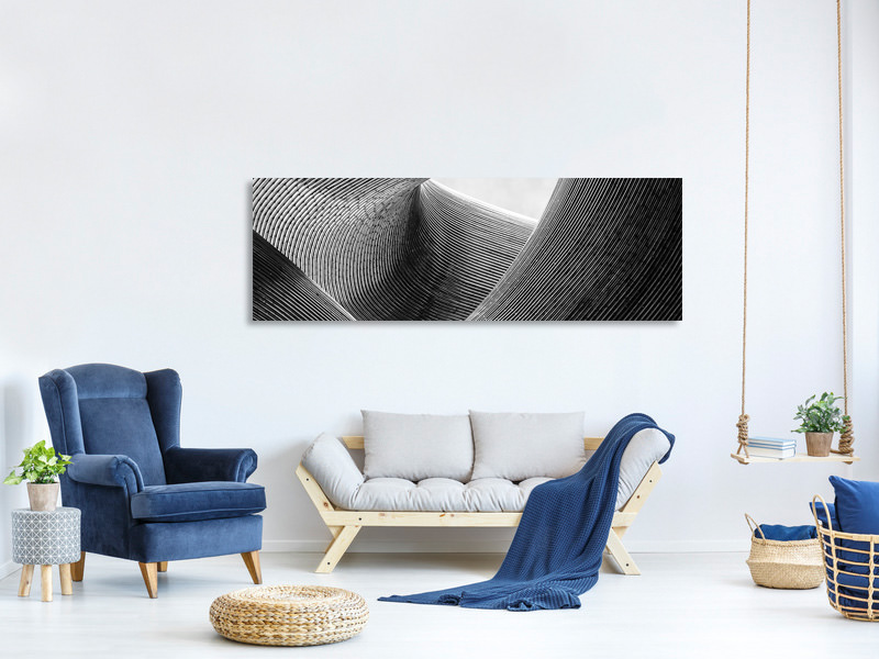 Panoramic Canvas Print Lines II