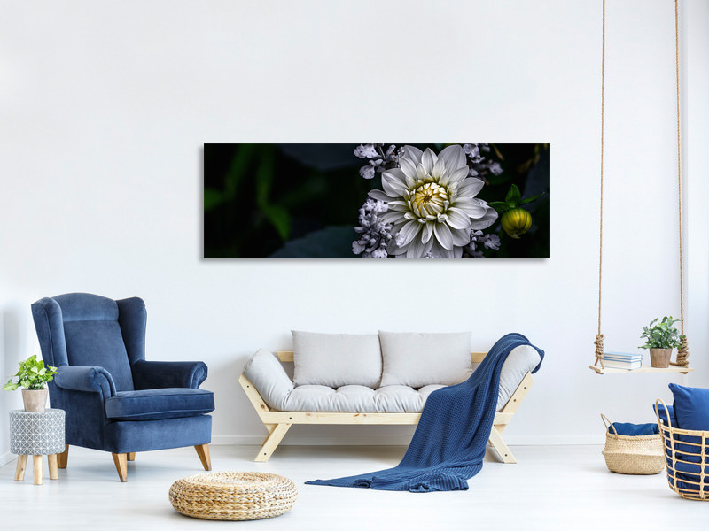 Panoramic Canvas Print Dahlia Flower