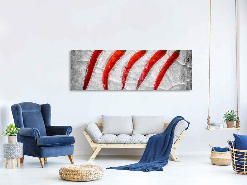 Panoramic Canvas Print Frozen Fire