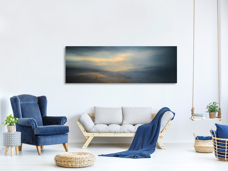 Panoramic Canvas Print Walk Along The Edge Of Nowhere