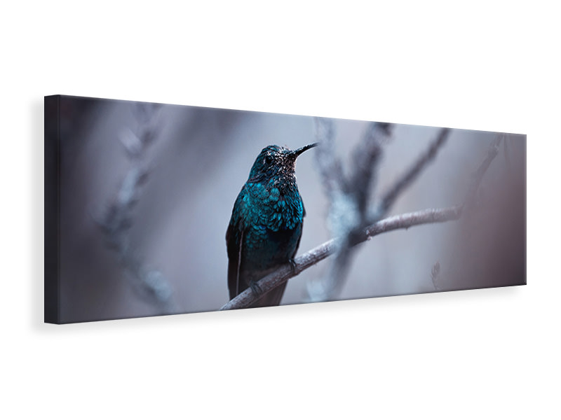 Panoramic Canvas Print Electrical Blue