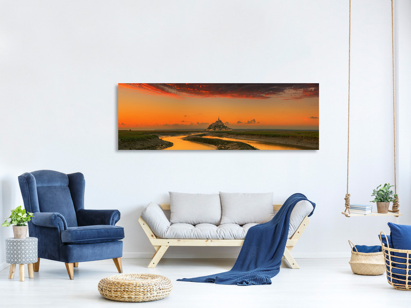 Panoramic Canvas Print Evening Light A