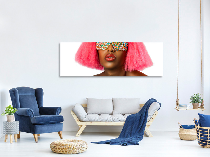 Panoramic Canvas Print Candy Eyes
