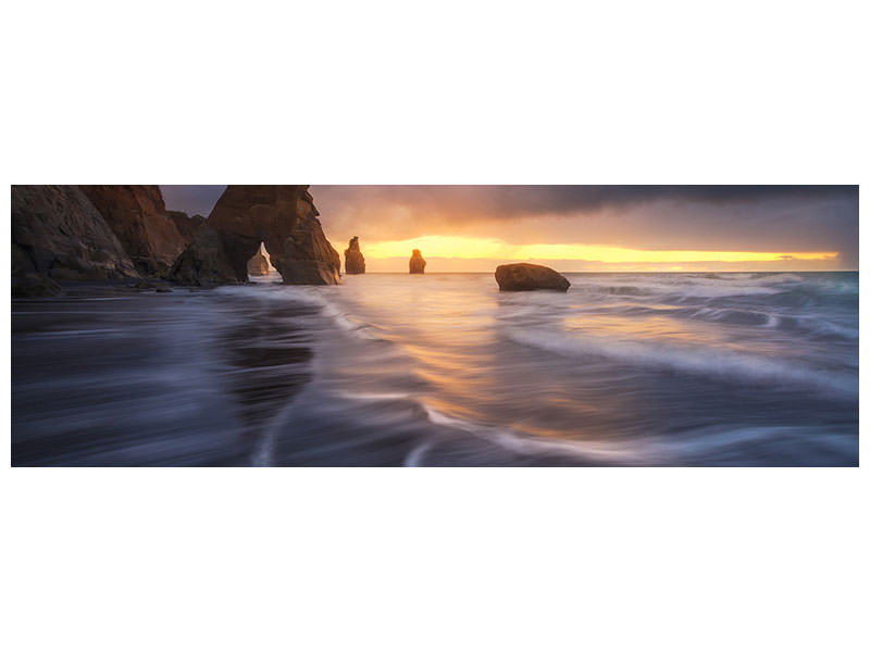 Panoramic Canvas Print Raging Tide