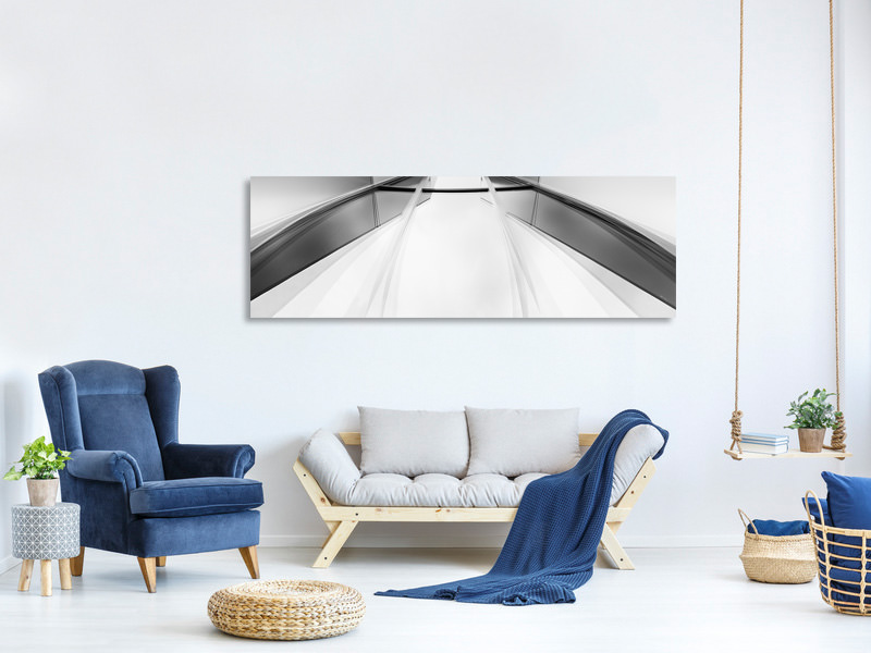 Panoramic Canvas Print Fading Lines