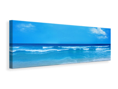 Panoramic Canvas Print Gentle Beach Waves