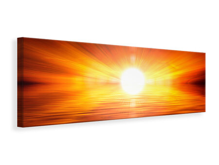 Panoramic Canvas Print Glowing Sunset