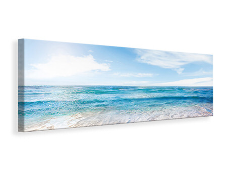 Panoramic Canvas Print Waves In The Sand