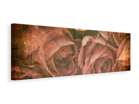 Panoramic Canvas Print Rose Bouquet
