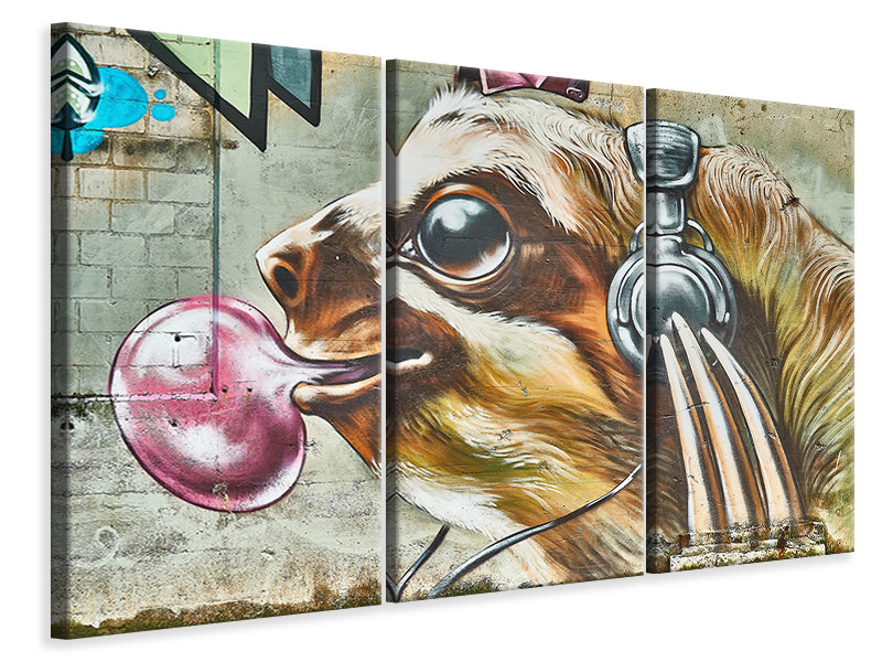3 Piece Canvas Print That's where the dog rocks