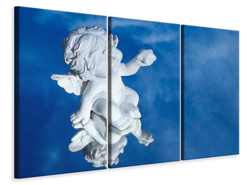 3 Piece Canvas Print Angel in the mirror