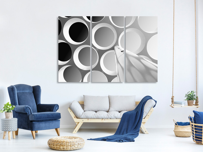 Tableau sur Toile en 3 parties Around The Curves