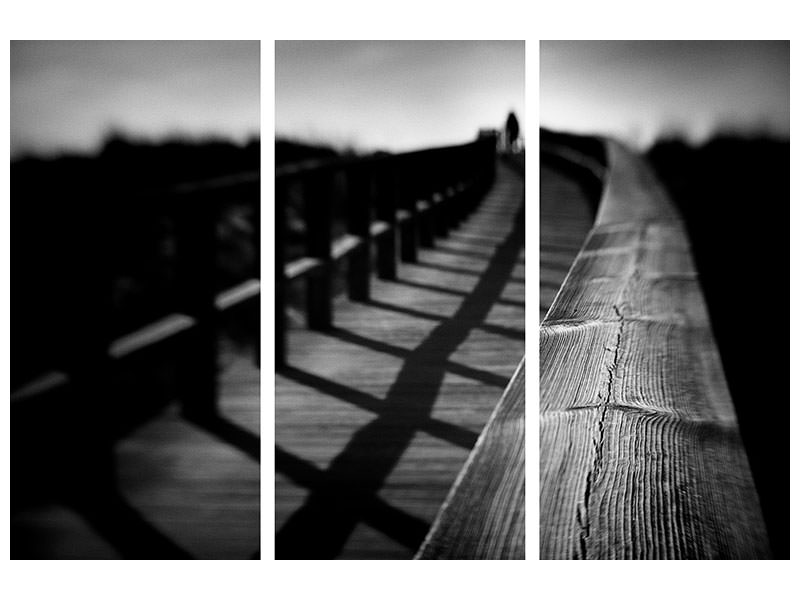 3 Piece Canvas Print Lonely Rails