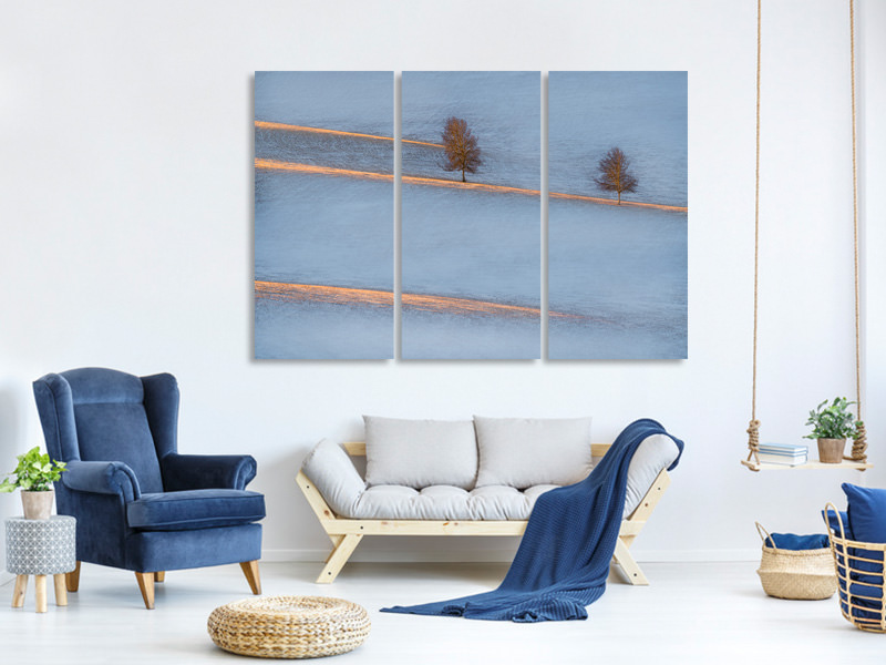 3 Piece Canvas Print Light Traces