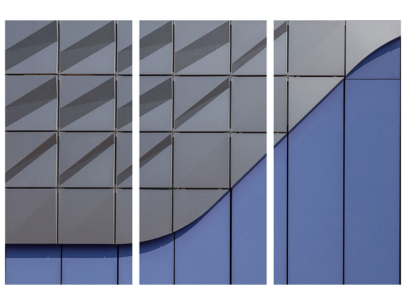 3 Piece Canvas Print Parking Wall