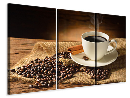 3 Piece Canvas Print Coffee Break