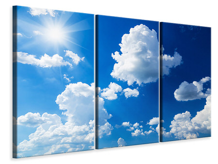 3 Piece Canvas Print Sky-Blue