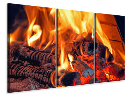 3 Piece Canvas Print Campfire