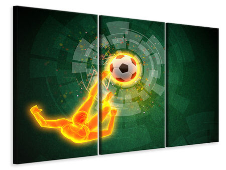 3 Piece Canvas Print The Kicker
