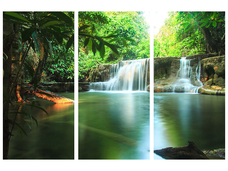 3 Piece Canvas Print Element Water