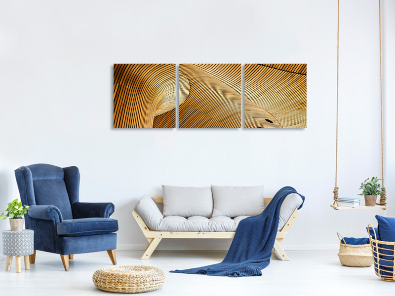 Panoramic 3 Piece Canvas Print Once A Tree
