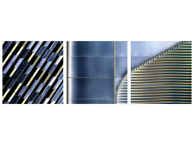 Panoramic 3 Piece Canvas Print Shapes And Color