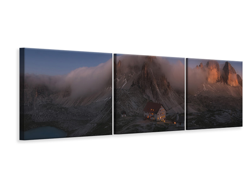 Panoramic 3 Piece Canvas Print Untitled 9