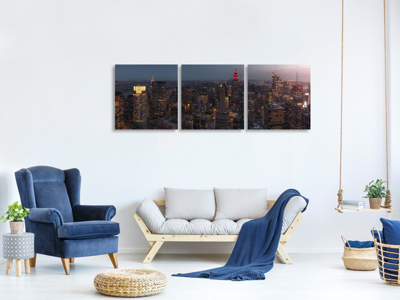 Panoramic 3 Piece Canvas Print Untitled 10