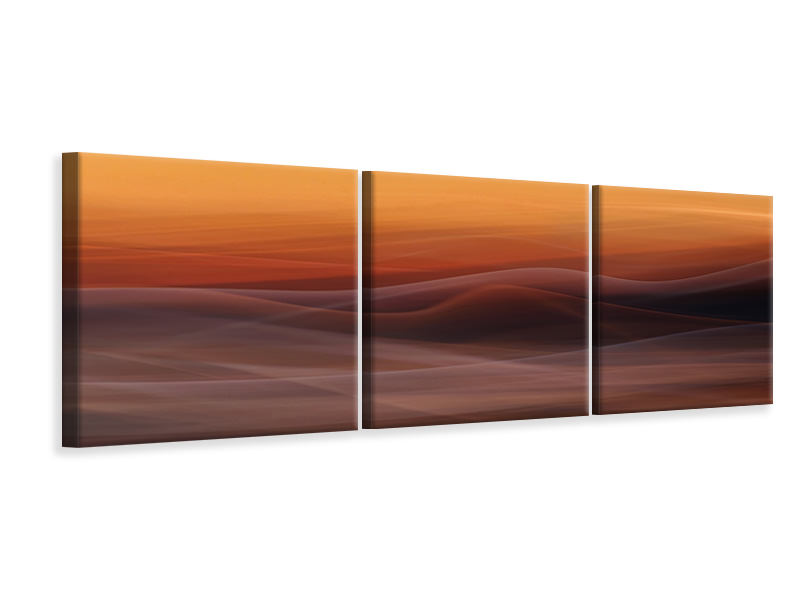 Panoramic 3 Piece Canvas Print Where Nothing Grows