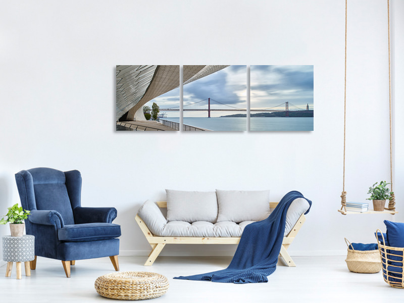 Panoramic 3 Piece Canvas Print Maat