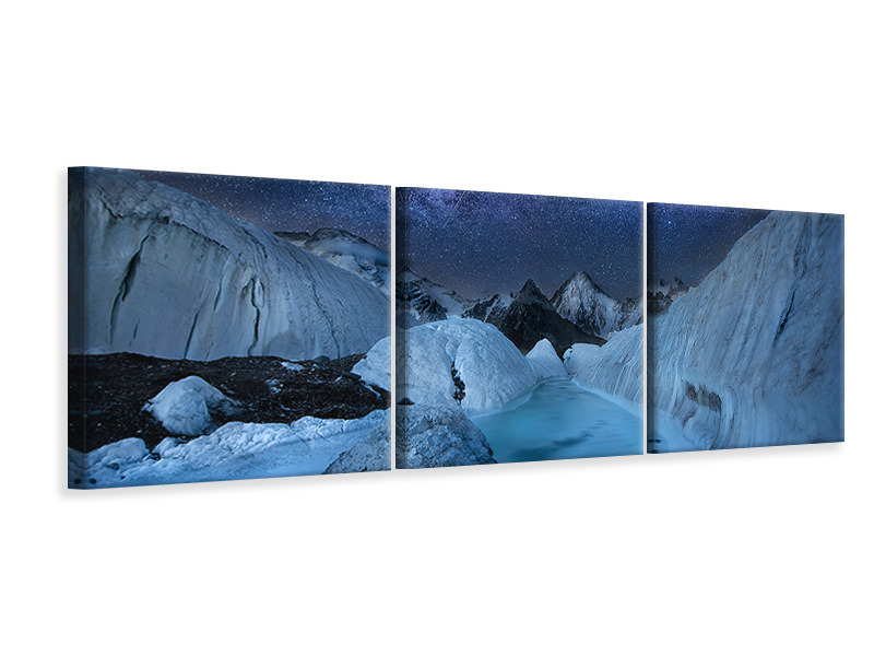 Panoramic 3 Piece Canvas Print Exploring Pakistran