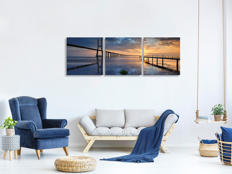 Panoramic 3 Piece Canvas Print Physical