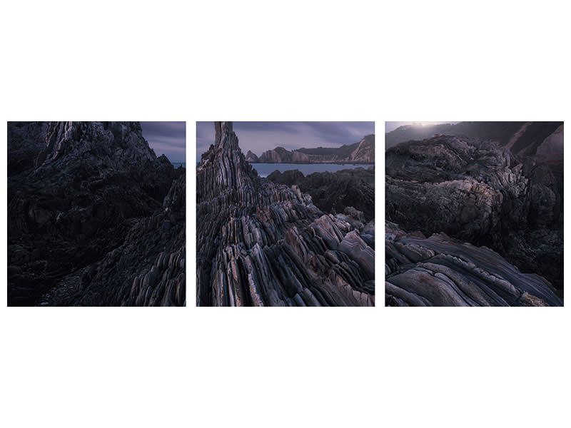 Panoramic 3 Piece Canvas Print Gueirua Needles