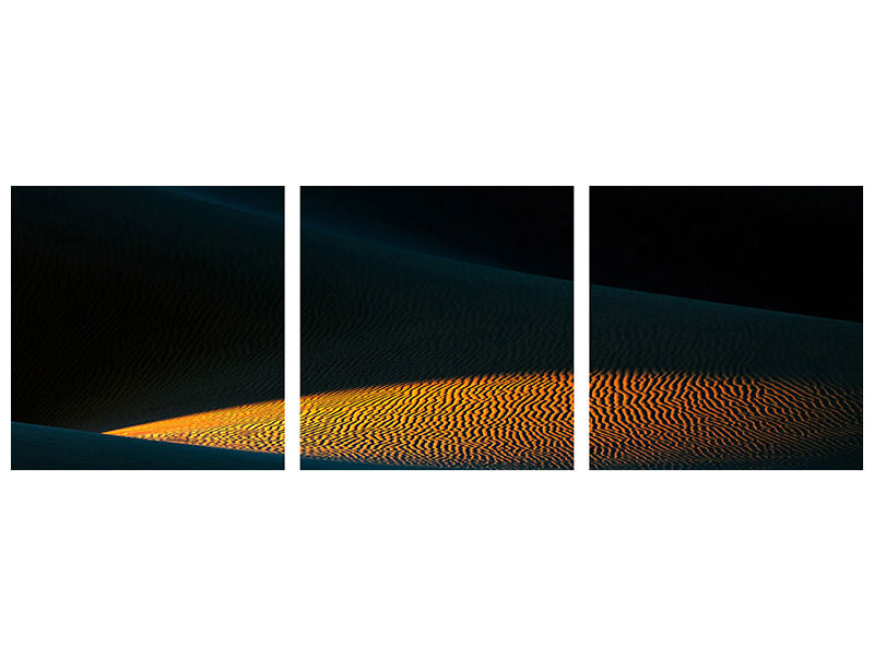 Panoramic 3 Piece Canvas Print Flame