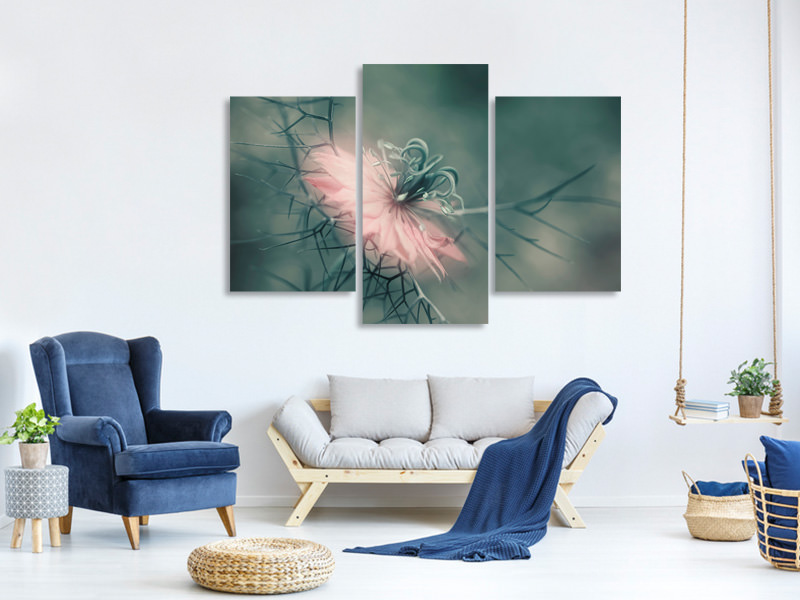 Modern 3 Piece Canvas Print The Virgin