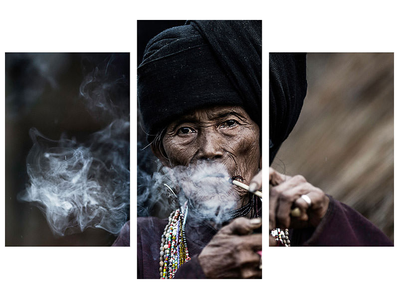 Modern 3 Piece Canvas Print Smoking 2