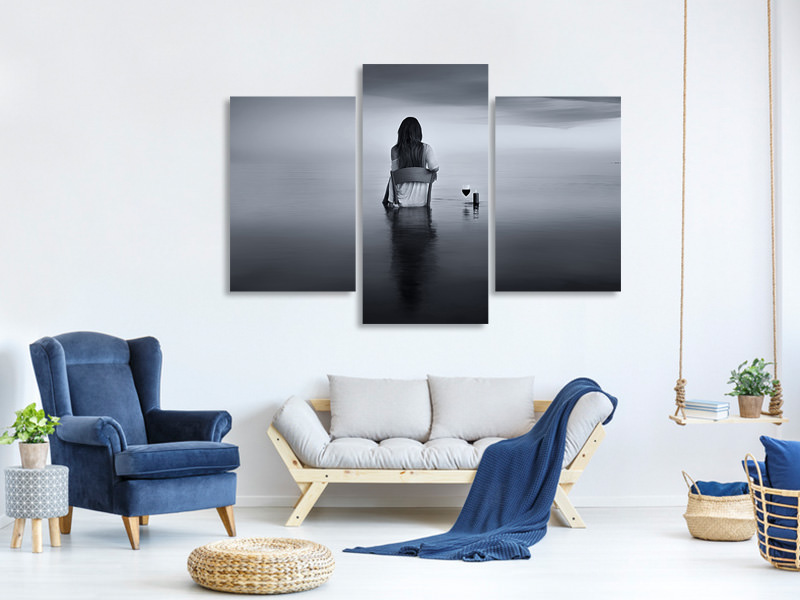 Modern 3 Piece Canvas Print Enjoy The Silence
