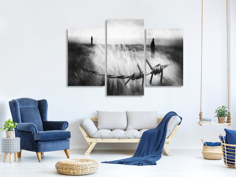 Modern 3 Piece Canvas Print The Sadness Will Last Forever
