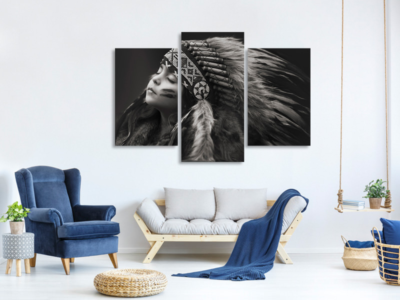 Modern 3 Piece Canvas Print Chief Of Her Dreams