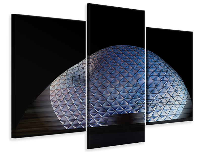 Modern 3 Piece Canvas Print Glowing Blob
