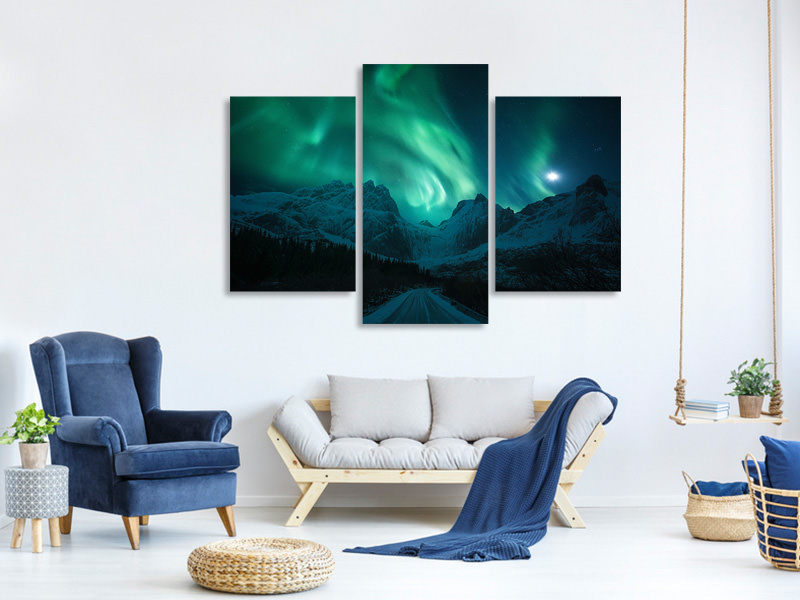 Modern 3 Piece Canvas Print The Green Poison