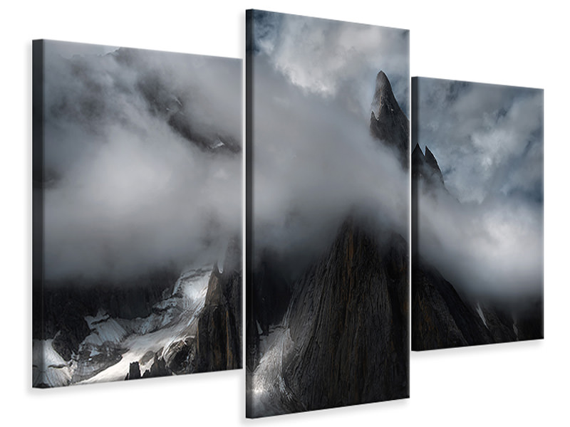 Modern 3 Piece Canvas Print The Karakoram