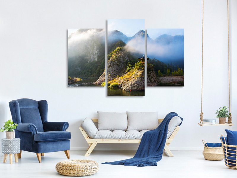 Modern 3 Piece Canvas Print Wollyubong