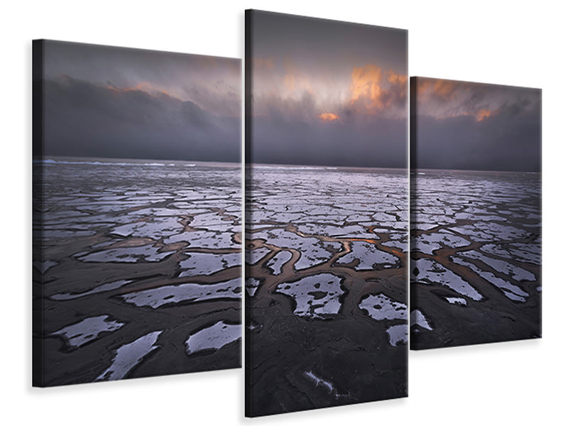 Modern 3 Piece Canvas Print Sunset A